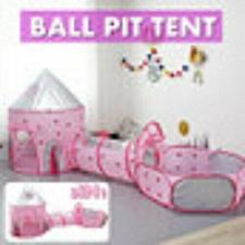 Buy 3 In 1 Kids Baby Gym Play Tent Tunnel Ball Pool Playhouse Toy Gift Odor-free