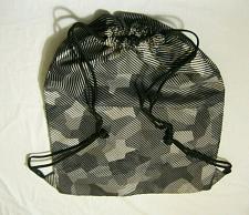 Buy OLD NAVY Black Gray CAMO Cinch Sack Rucksack Drawstring Backpack Bag