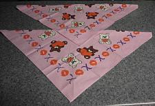 Buy 2 Brand New Pink Hearts Teddy Bear Design Dog Bandanas For Dog Rescue Charity