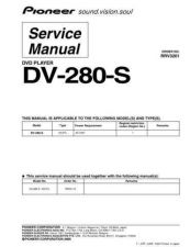 Buy Pioneer DV-280-S Service Manual by download Mauritron #234050