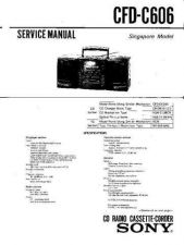 Buy Sony CFD-C606 Service Manual by download Mauritron #238782