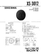Buy Sony XS-3012 Service Manual. by download Mauritron #246273