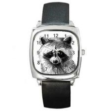 Buy Raccoon Face Art Square Unisex Wrist Watch