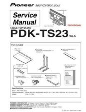Buy Pioneer PDK-TS20 Service Manual by download Mauritron #234710