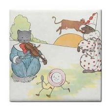 Buy The Cat And The Fiddle Rhyme Vintage Art Ceramic Tile