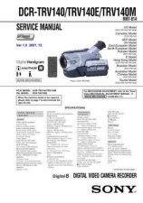 Buy Sony DCR-TRV380TRV480TRV480E Service Manual by download Mauritron #239832