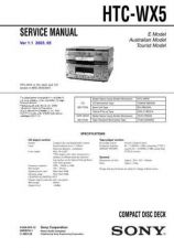 Buy Sony HT-SL7SL7A Service Manual by download Mauritron #241414