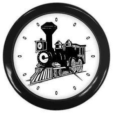 Buy Train Wall Clock Locomotive Railroad Engineer Art New