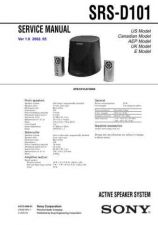 Buy Sony SRS-D101. Technical Information by download Mauritron #235838