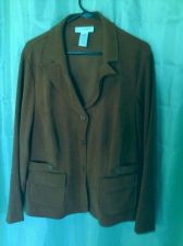 Buy Women's Sag Harbor 3 Button Orange Blazer Size 18 With Collar (bust 48)
