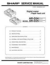Buy Sharp ARD24-D25 PG GB Service Manual by download Mauritron #208228