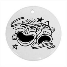 Buy Comedy Tragedy Masks Theatre Theater Art Ceramic Ornament