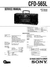 Buy Sony CFD-565L-2 Service Manual by download Mauritron #238737