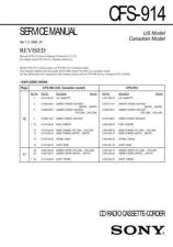 Buy Sony CFS-B11 Service Manual by download Mauritron #238931