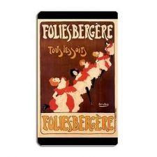 Buy Folies Bergere Can Can Dancers Art Vinyl Fridge Magnet