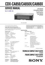 Buy Sony CDX-CA850CA850XCA860X Manual by download Mauritron #228238