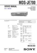 Buy Sony MDS-JE700 service manual Technical Manual. by download Mauritron #242703