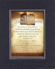 Buy For Heartfelt Inspirations - The Ten Commandments . . . 8 x 10 Religious Plaque