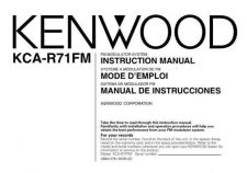 Buy Kenwood KCA-RC527 Operating Guide by download Mauritron #221439