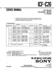 Buy Sony ICF-C26 Service Manual. by download Mauritron #241543