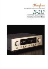 Buy ACCUPHASE E-213 DE Manual by download Mauritron #229448