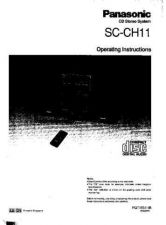 Buy Panasonic SCCH11 Operating Instruction Book by download Mauritron #236418