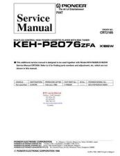 Buy PIONEER KEHP2076 CRT2185 Technical Information by download #119286