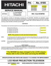 Buy Hitachi CLU-5729TSI Service Manual by download Mauritron #260632