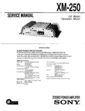 Buy Sony XM-250 Service Information by download Mauritron #238336