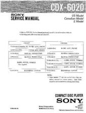 Buy Sony CDX-6020 Service Manual by download Mauritron #231703