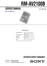 Buy Sony RM-AV3000 Technical Information by download Mauritron #235817