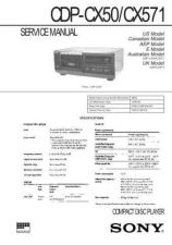 Buy Sony CDP-CX50 Manual by download Mauritron #228207