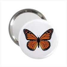 Buy Monarch Butterfly Round Handbag Purse Mirror