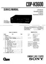 Buy Sony CDP-H300 Service Manual by download Mauritron #237354