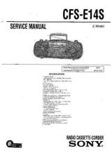 Buy Sony CFS-E2 Service Manual by download Mauritron #238948
