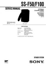 Buy Sony SS-F100 Manual by download Mauritron #229803