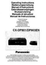 Buy Panasonic CXDP801 DP803EN Operating Instruction Book by download Mauritron #23