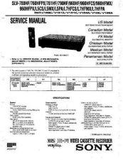 Buy Sony SLV-760-761-790-960-L5CS-L5MX-L5PA-L7HFCS-... Technical Manual. by downloa