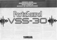 Buy Yamaha VSS30E Operating Guide by download Mauritron #250250