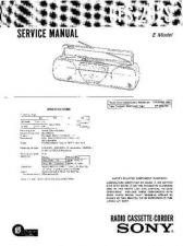 Buy Sony CFS-204 Service Manual by download Mauritron #238912
