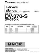 Buy Pioneer DV-3701-S Service Manual by download Mauritron #234217