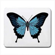 Buy Blue Butterfly Insect Art Computer Mouse Pad