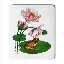 Buy Frog On Lilypad Art Computer Mouse Pad