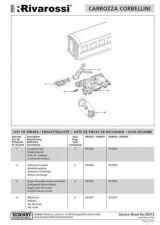 Buy Rivarossi No.00013 Corbellini Coach Service Sheets by download Mauritron #20617