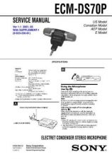 Buy Sony ECM-DS70P Service Manual by download Mauritron #240582