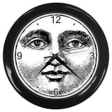 Buy Moon Face Vintage Retro Style Round Wall Clock