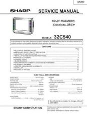 Buy Sharp 32C540 Service Manual by download Mauritron #207627