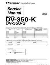 Buy Pioneer DV-3500-G Service Manual by download Mauritron #234125