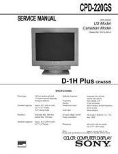 Buy Sony CPD-220GS Service Manual by download Mauritron #239278