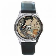 Buy Japanese Woman Sake Cooking Japan Art Wrist Watch